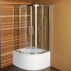 POLYSAN - SELMA čtvrtkruhová sprchová zástěna 900x900x1500, čiré sklo (MD2515)