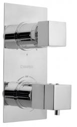 SAPHO - LATUS podomítková sprchová termostatická baterie, 3 výstupy, chrom (1102-92)
