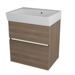 SAPHO - LARGO umyvadlová skříňka 59x60x41cm, ořech bruno (LA603)
