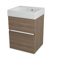 SAPHO - LARGO umyvadlová skříňka 49x60x41cm, ořech bruno (LA503)