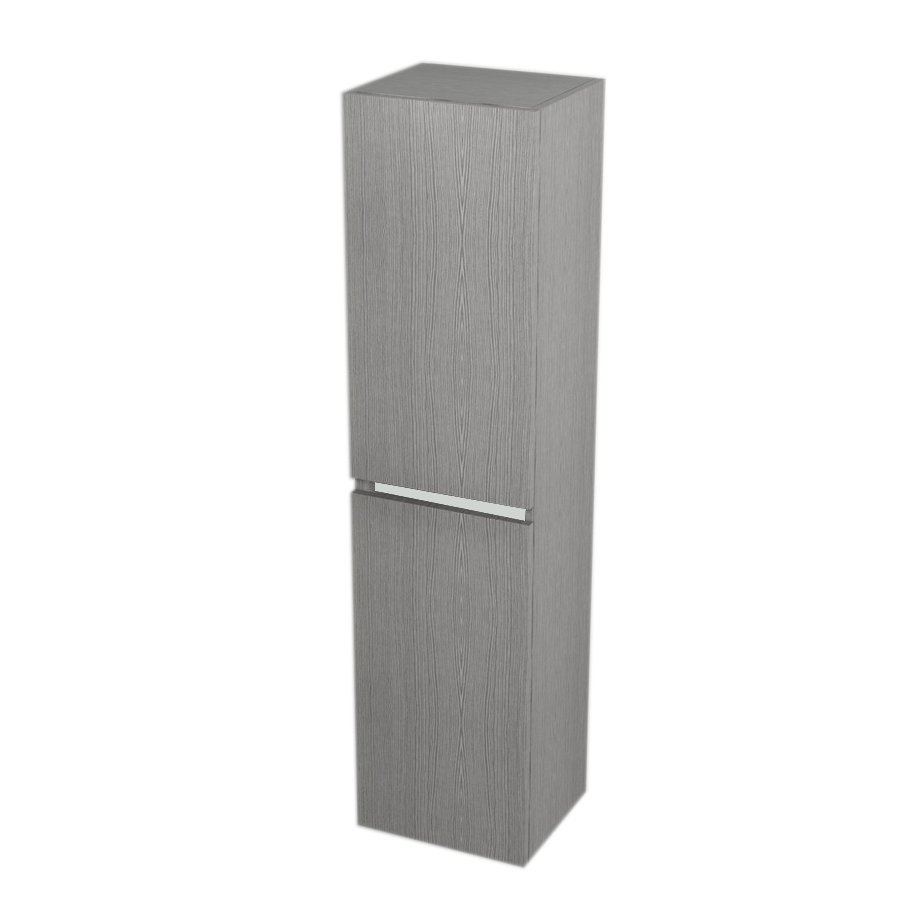 SAPHO Skříňka vysoká s košem 35x140x30cm, levá/pravá, dub stříbrný LA350LP