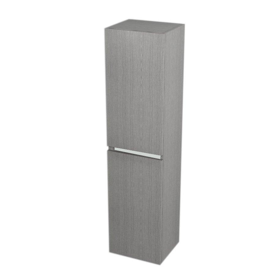 Skříňka vysoká s košem 35x140x30cm, levá/pravá, dub stříbrný (LA350LP) SAPHO