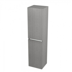 SAPHO - Skříňka vysoká s košem 35x140x30cm, levá/pravá, dub stříbrný (LA350LP)