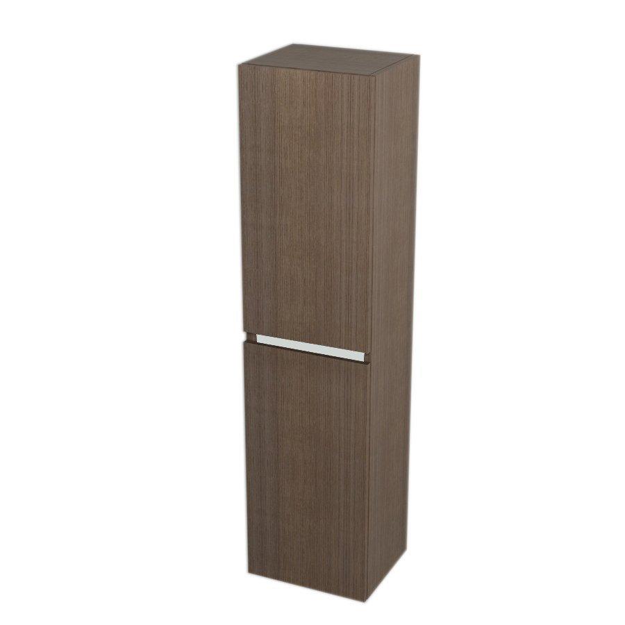 Skříňka vysoká s košem 35x140x30cm, levá/pravá, borovice rustik (LA352LP) SAPHO