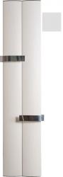 RIDEA - OTHELLO TWIN otopné těleso 460x1890 mm, 2 držáky ručníků otevřené, met.stříbrná (2221189046SS)