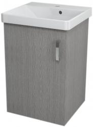 SAPHO - THEIA umyvadlová skříňka 46,4x70x43,5cm, 1xdvířka, dub stříbrný (TH053)