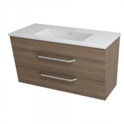 SAPHO - KALI umyvadlová skříňka 89x50x46cm, ořech bruno (56092)