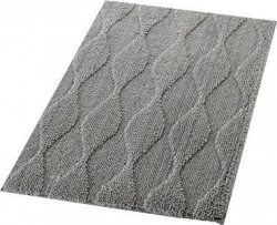 RIDDER - ORIENT předložka 55x50cm s protiskluzem, polyester, šedá (724807)