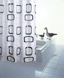 RIDDER - GEO sprchový závěs 180x200cm, polyester (403290), fotografie 2/1
