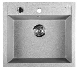 SAPHO - Dřez granitový vestavný mono, 57x51 cm, šedá (GR1003)