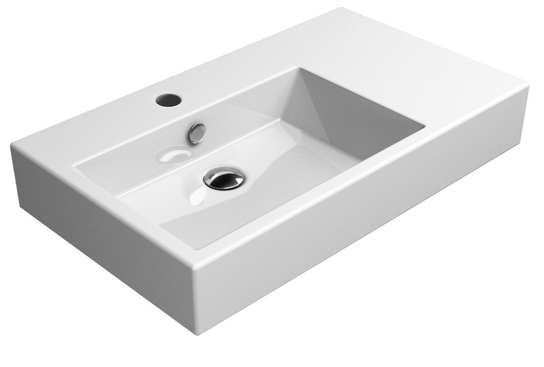 KUBE umyvadlo 80x47 cm, s odkladnou plochou vpravo, ExtraGlaze (8956111)