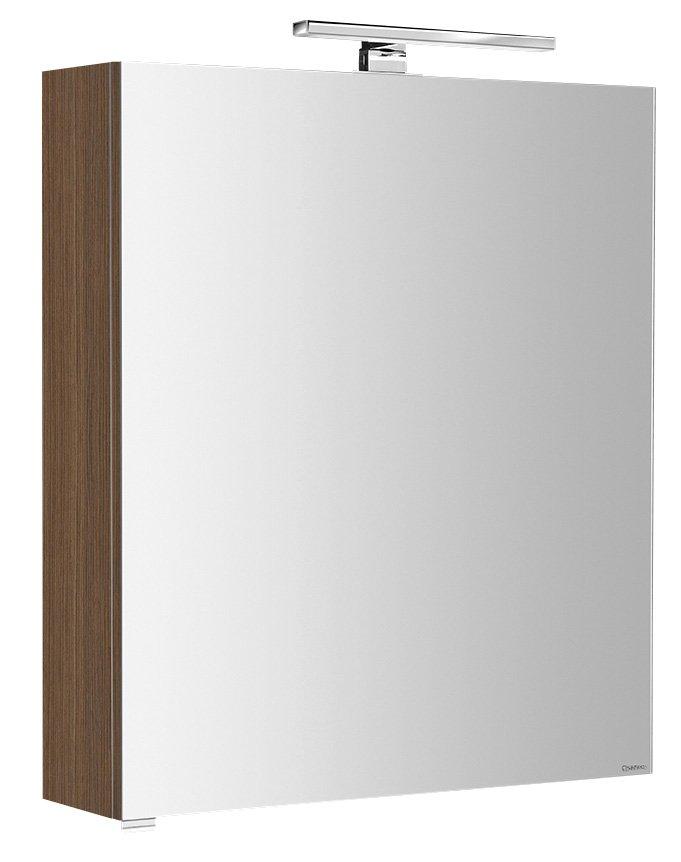 RIWA galerka s LED osvětlením, 50x70x17 cm, ořech bruno (RW056)