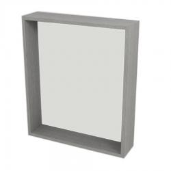SAPHO - RIWA zrcadlo s LED osvětlením, 60x70x15 cm, dub stříbrný (RW601)