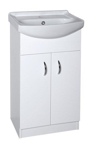 EKOSET umyvadlová skříňka včetně umyvadla 47x89,6x37,5cm, bílá (57058)