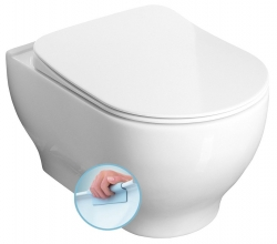 SAPHO - GARCIA WC mísa závěsná rimless, 36,5x52,5 cm (100514)