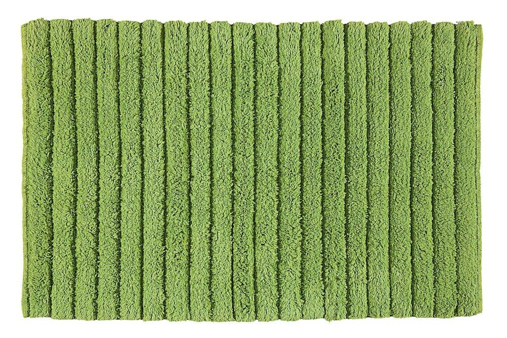 BOMBAY koupelnová předložka, 50x80 cm, 100% bavlna, protiskluz, zelená (BO508004)