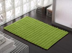 AQUALINE - BOMBAY koupelnová předložka, 50x80 cm, 100% bavlna, protiskluz, zelená (BO508004), fotografie 2/1