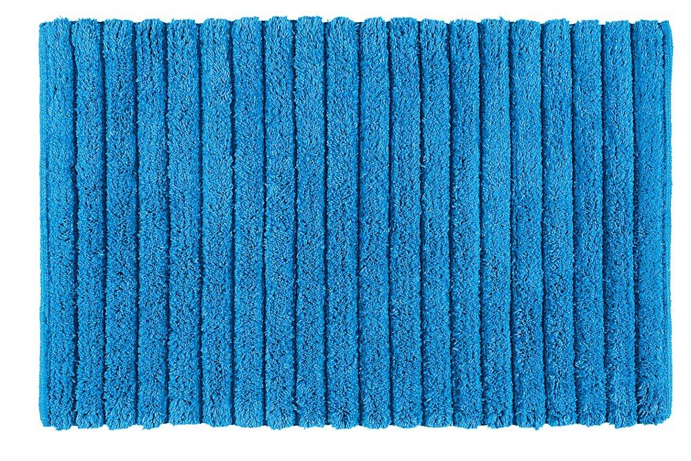 BOMBAY koupelnová předložka, 50x80 cm, 100% bavlna, protiskluz, modrá (BO508011)