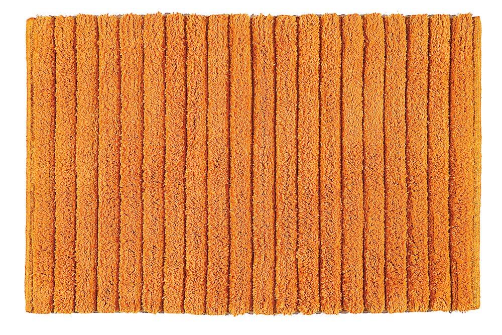 BOMBAY koupelnová předložka, 50x80 cm, 100% bavlna, protiskluz, oranžová (BO508067)