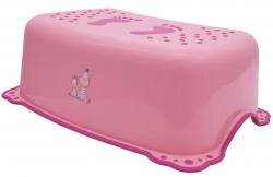 AQUALINE - Dětské protiskluzové stupátko do koupelny Zebra, růžová (3196)