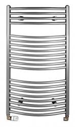 ORBIT otopné těleso s bočním připojením 450x970 mm, 419 W, metalická stříbrná (ILA94) - AQUALINE