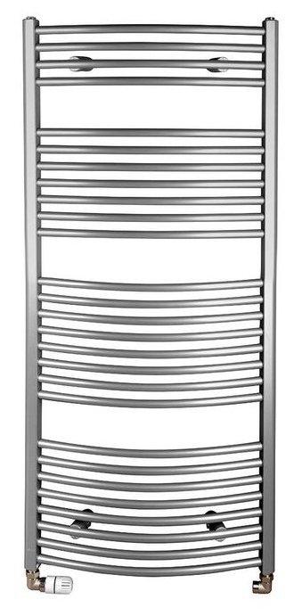 ORBIT otopné těleso s bočním připojením 600x1330 mm, 708 W, stříbrná (ILA36)