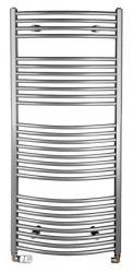 ORBIT otopné těleso s bočním připojením 600x1330 mm, 708 W, metalická stříbrná (ILA36) - AQUALINE