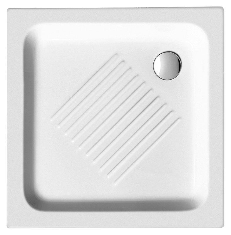 Keramická sprchová vanička, čtverec 70x70x10cm (437011)