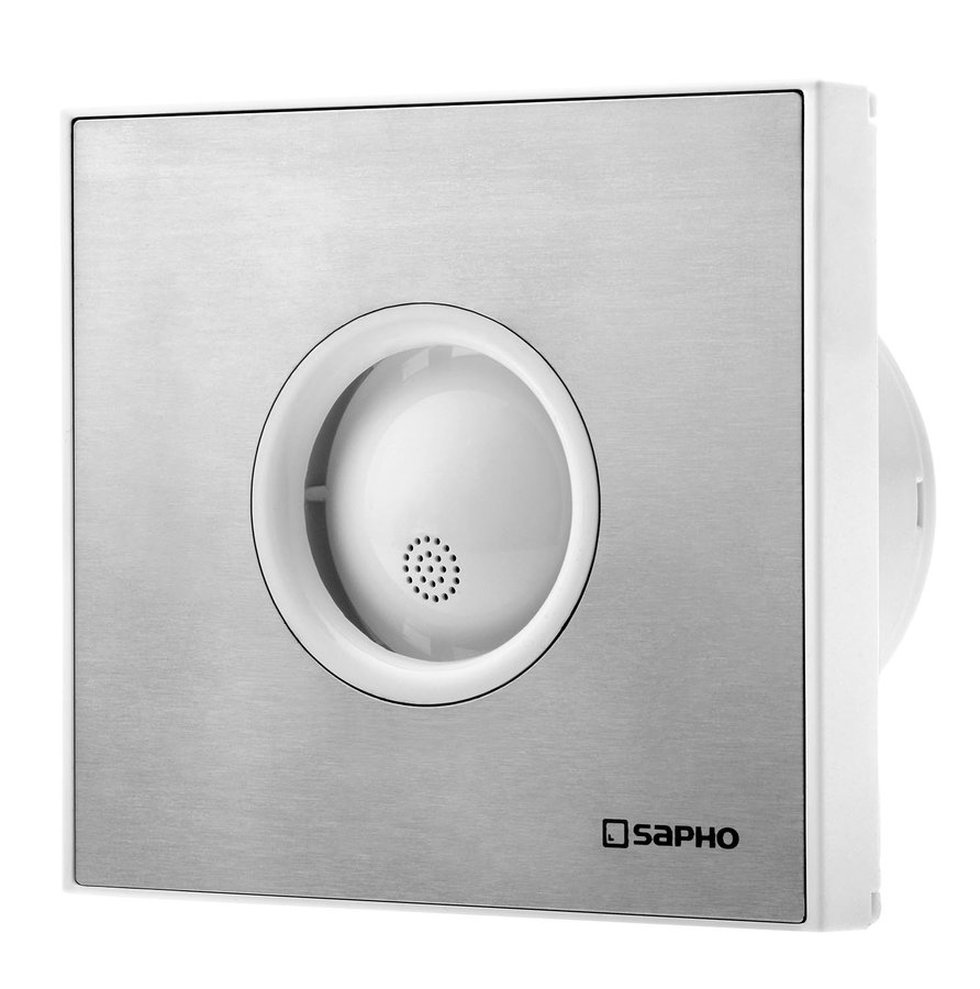 LITE koupelnový ventilátor axiální, 15W, potrubí 100mm, nerez (LT105)