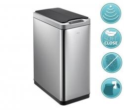 PHANTOM bezdotykový odpadkový koš 20l, Soft Close, nerez mat (DR420) - SAPHO