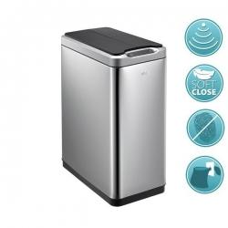 PHANTOM bezdotykový odpadkový koš 30l, Soft Close, nerez mat (DR430) - SAPHO