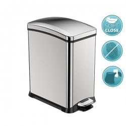 REJOICE odpadkový koš pedálový 8l, Soft Close, nerez mat (DR508) - SAPHO