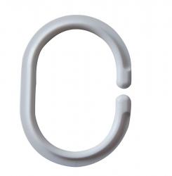 RIDDER - Kroužky na sprchový závěs 12 ks - C, plast, bílá (49301)