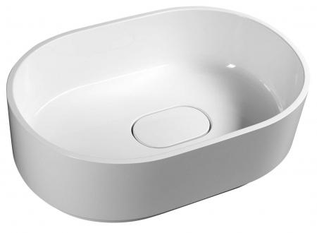 SAPHO - TAU umyvadlo 62x42cm, litý mramor, bílá (TA620)
