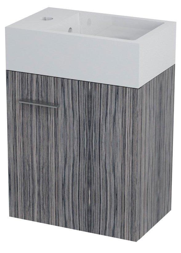 LATUS V umyvadlová skříňka 35,6x40x23cm, zebráno tmavé (LT058)