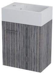 SAPHO - LATUS V umyvadlová skříňka 35,6x40x23cm, zebráno tmavé (LT058)