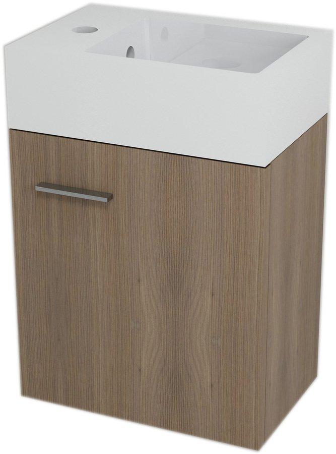 LATUS V umyvadlová skříňka 35,6x40x23cm, Ořech bruno (LT060)