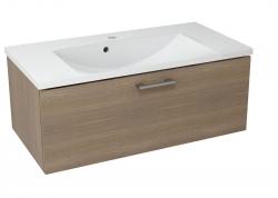 SAPHO - MAKALA umyvadlová skříňka 89,5x35x45,2 cm, ořech bruno (ML093)