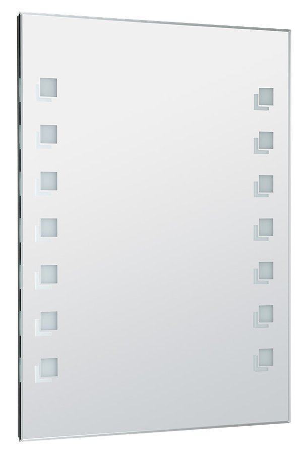 LED podsvícené zrcadlo 60x80cm, kolíbkový vypínač (ATH56)