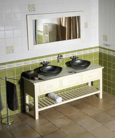 SAPHO - Koupelnový set BRAND 160, dvě umyvadla, starobílá (KSET-013)