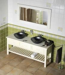 SAPHO - Koupelnový set BRAND 160, dvě umyvadla, starobílá (KSET-013), fotografie 12/13