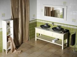 SAPHO - Koupelnový set BRAND 160, dvě umyvadla, starobílá (KSET-013), fotografie 14/13