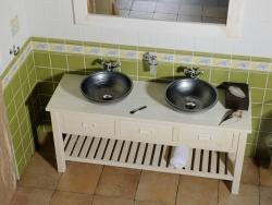 SAPHO - Koupelnový set BRAND 160, dvě umyvadla, starobílá (KSET-013), fotografie 2/13