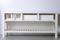 SAPHO - Koupelnový set BRAND 160, dvě umyvadla, starobílá (KSET-013), fotografie 16/13
