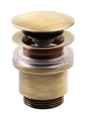 SILFRA - Uzavíratelná k. výpust pro umyvadla bez přepadu Click Clack,tichá,V10-25mm,bronz (UD369S92)
