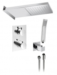 KIMURA podomítkový sprchový set s termostatickou baterií, 3 výstupy, chrom (KU392-01) - SAPHO