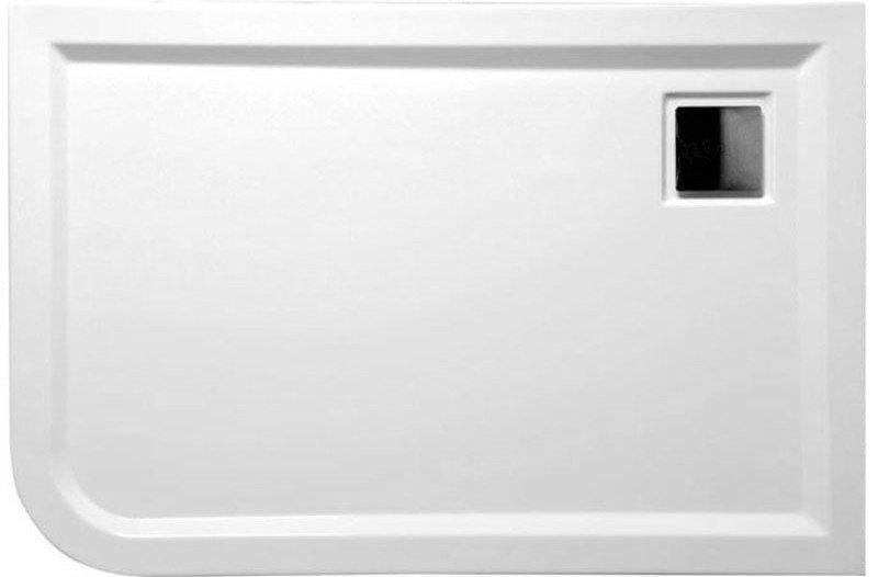 LUNETA sprchová vanička akrylátová, obdélník 120x80x4cm, pravá, bílá (59511)