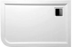 POLYSAN - LUNETA sprchová vanička akrylátová, obdélník 120x80x4cm, pravá, bílá (59511)