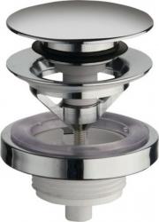 SILFRA - Uzavíratelná k. výpust pro umyvadla s přepadem Click Clack,tichá,V 5-60mm,chrom (UD850S51)