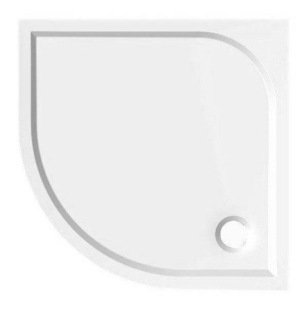 SEMI 90 sprchová vanička z litého mramoru, čtvrtkruh 90x90x3 cm, R55 (HQ559R)